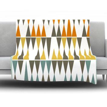 East Urban Home Diamond Kilim by Pellerina Design Fleece Throw Blanket | AllModern