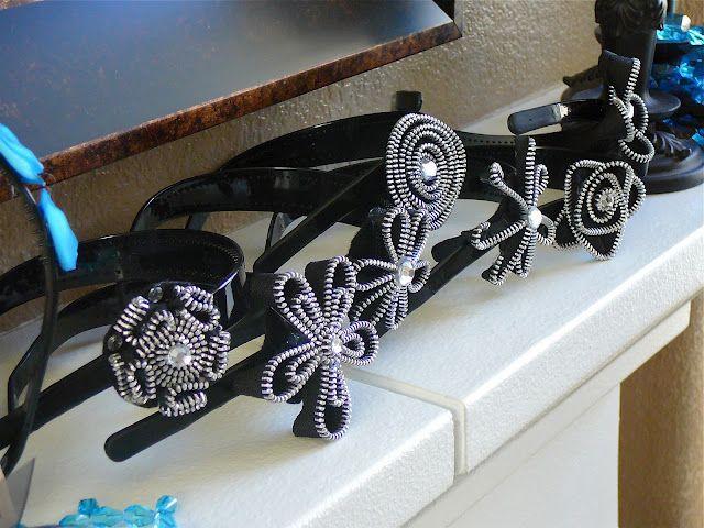 Pretty Dubs: Zipper Flower Headbands