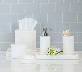 Superbe Alabaster Bathroom Accessories