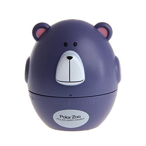 Stebcece Cute Cooking Timer Purple Cow Shape Mechanical Kitchen Countdown  Reminder   Cool Kitchen Gifts