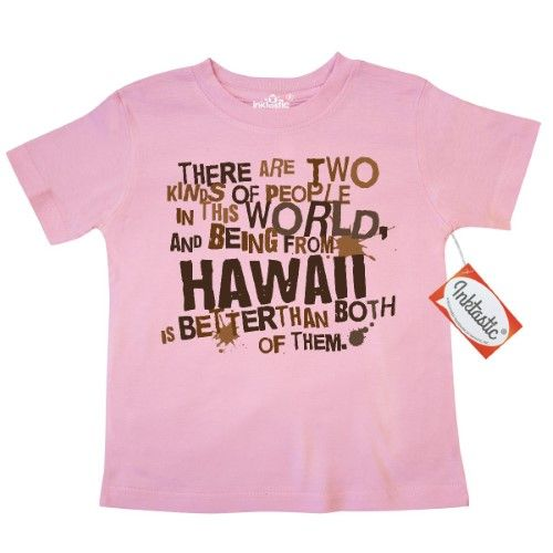 cc2a3e976 Inktastic Funny Hawaii Quote Gift Toddler T-Shirt State Humor Two Kinds Of  People Joke States U.s. Pride Cute Kids Gifts Apparel Clothing Tees.