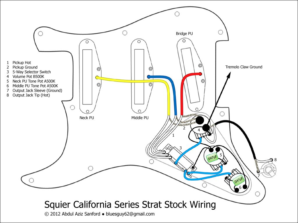 [SODI_2457]   Squier California Series Strat Stock Wiring Diagram | Squier, Guitar, Wire | Wiring Diagram Squier California Series Strat Stock |  | Pinterest