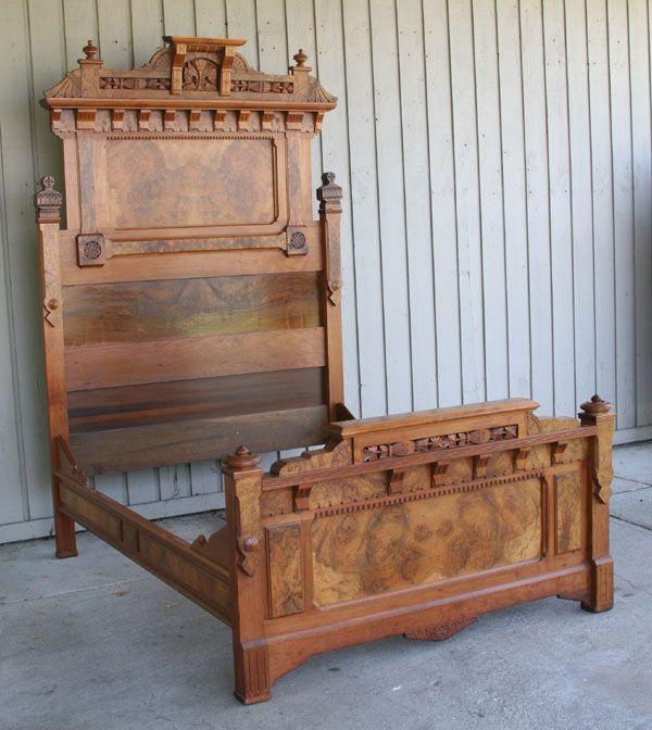Superb Eastlake High Style Bed Frame