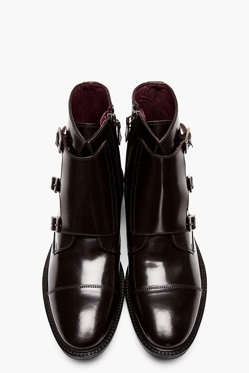 TIGER OF SWEDEN Deep brown monk strap CLIVE 04 boots
