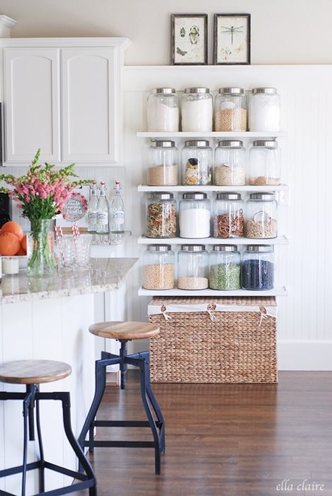 open shelving ideas how to style pinterest country kitchen rh pinterest com au french country kitchen shelving country kitchen shelves and wall cabinets