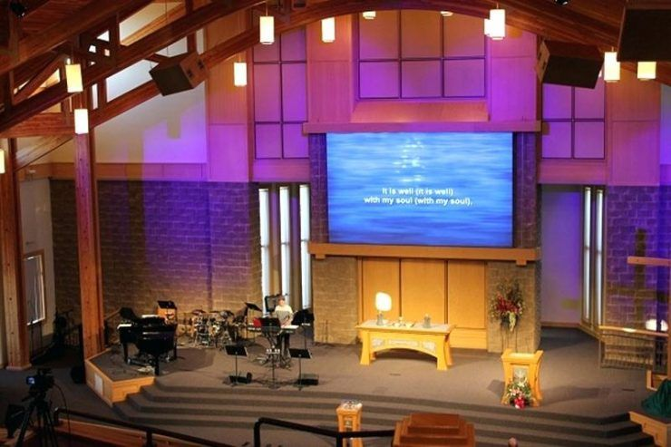 Hope Lutheran Church Installs Led Screen Moving Lights From