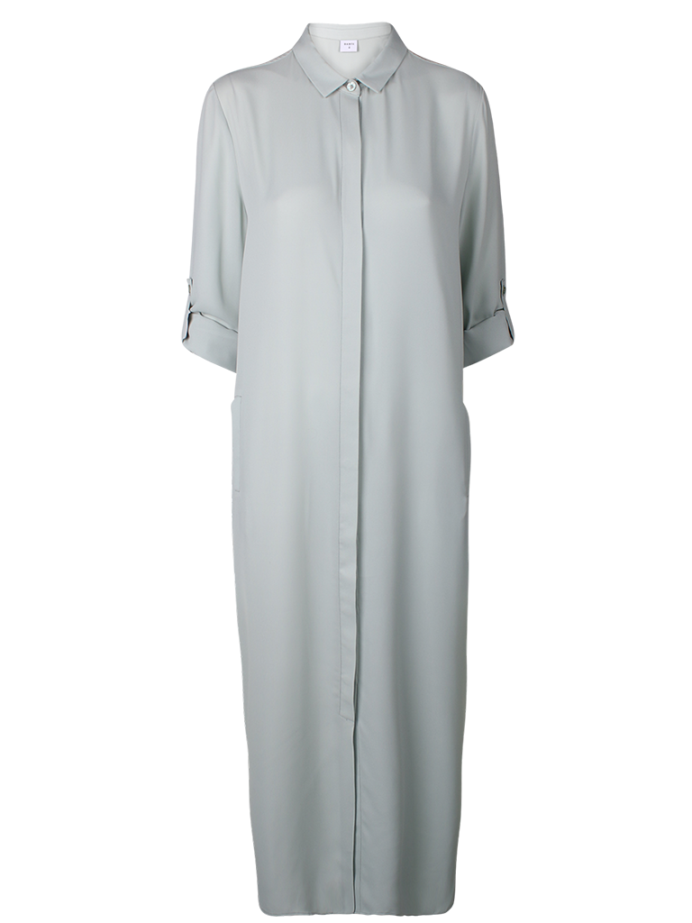 Maxi length shirt dress the Adele.   Fashion // clothing // woman // inspiration // www.dante6.com