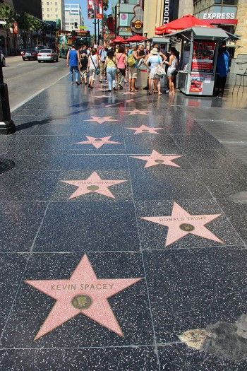 The Hollywood Walk of Fame comprises more than 2,500 five-pointed terrazzo and brass stars embedded in the sidewalks along 15 blocks of Hollywood Boulevard and three blocks of Vine Street in Hollywood, California. www.romanworldwide.com #walkoffame #hollywoodstars #romanluxurytours