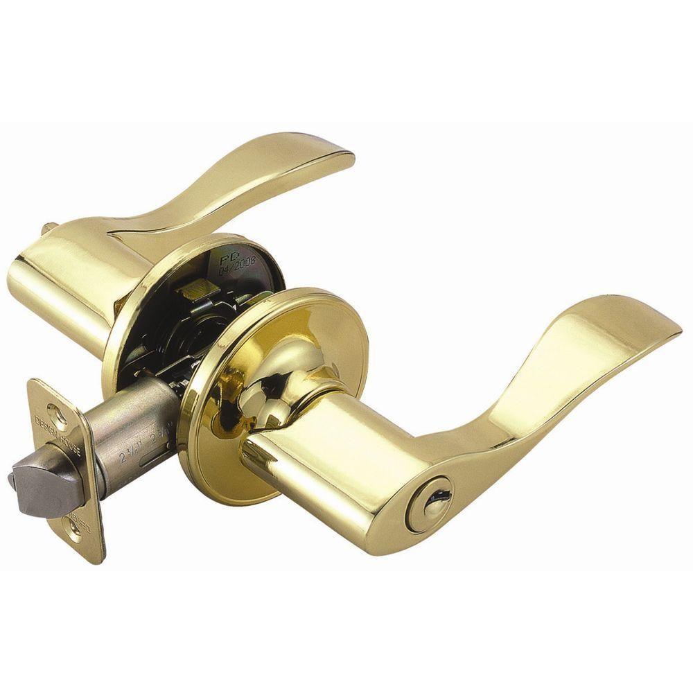 Design House Springdale Polished Brass Keyed Entry Door Lever Polished Brass Entry Door Handles House Design
