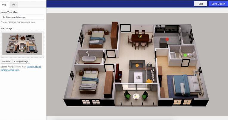 Wordpress Virtual Tour Plugin For 360 Panoramas Wp Solver Wordpress Blogging Blogchat In 2020 Floor Plan Design Home Design Software 3d Home Design Software