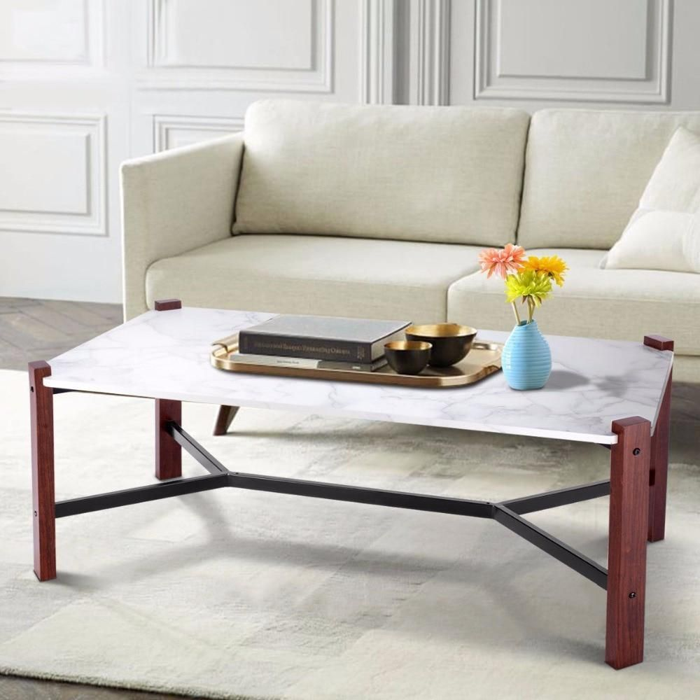 Fable Faux Marble Top Living Room Coffee Table In 2020 Marble