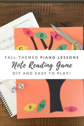 DIY off-bench piano game to help with note reading.