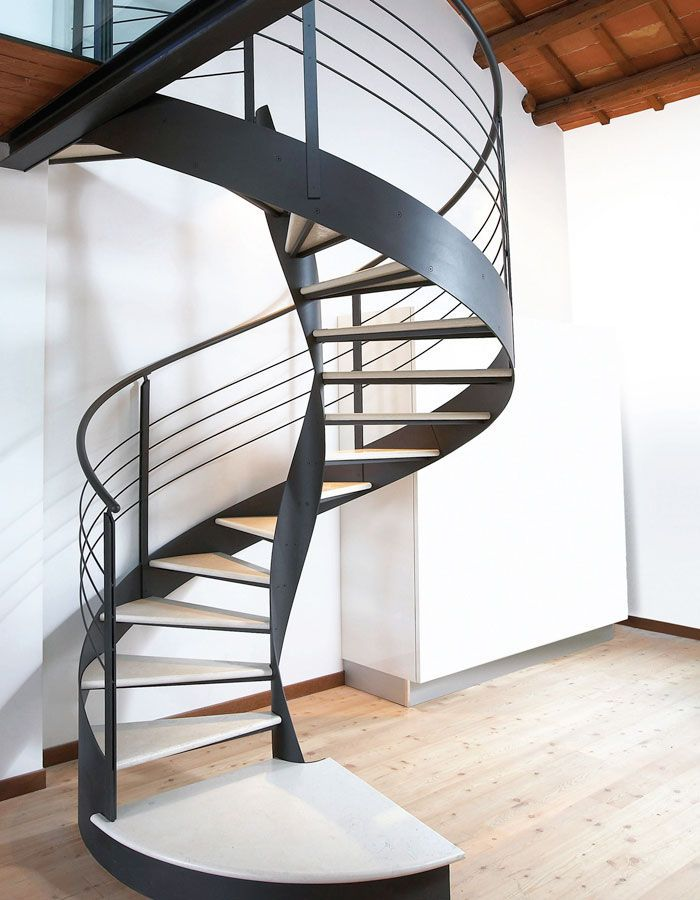 Best Spiral Staircase Lateral Stringer Metal Frame Wooden 640 x 480