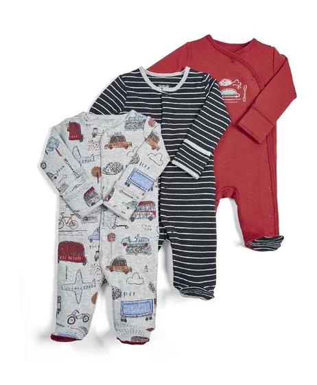 Mamas /& Papas Baby Boys Sleepsuits pack of 3