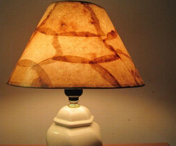 Table Lamp Paper Lamp Shade Coffee Filter Rustic Lamp