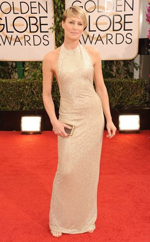 Hello Halter from Robin Wright's Best Looks  In Reem Acra at the 2014 Golden Globes.