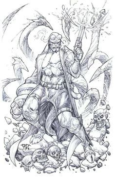 Hellboy Paolo Pantalena Art Grimm Fairy Tales Coloring Books