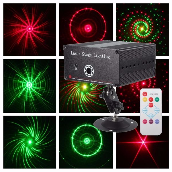 10w R Amp G Led Laser Remote Projector Stage Light Xmas Party