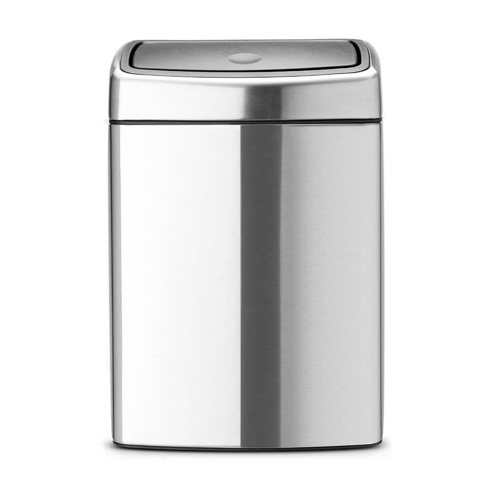 Pedaalemmer Brabantia Touchbin.Touch Bin 10 Litre Rectangular Plastic Inner Bucket