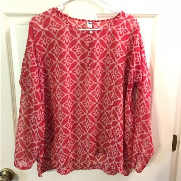 Sheer Boho Top Super cute and trendy! Perfect for everyday wear! ❤️ only worn a couple of times  It is a size SMALL but can most definitely fit a M to a small large! Tops Blouses
