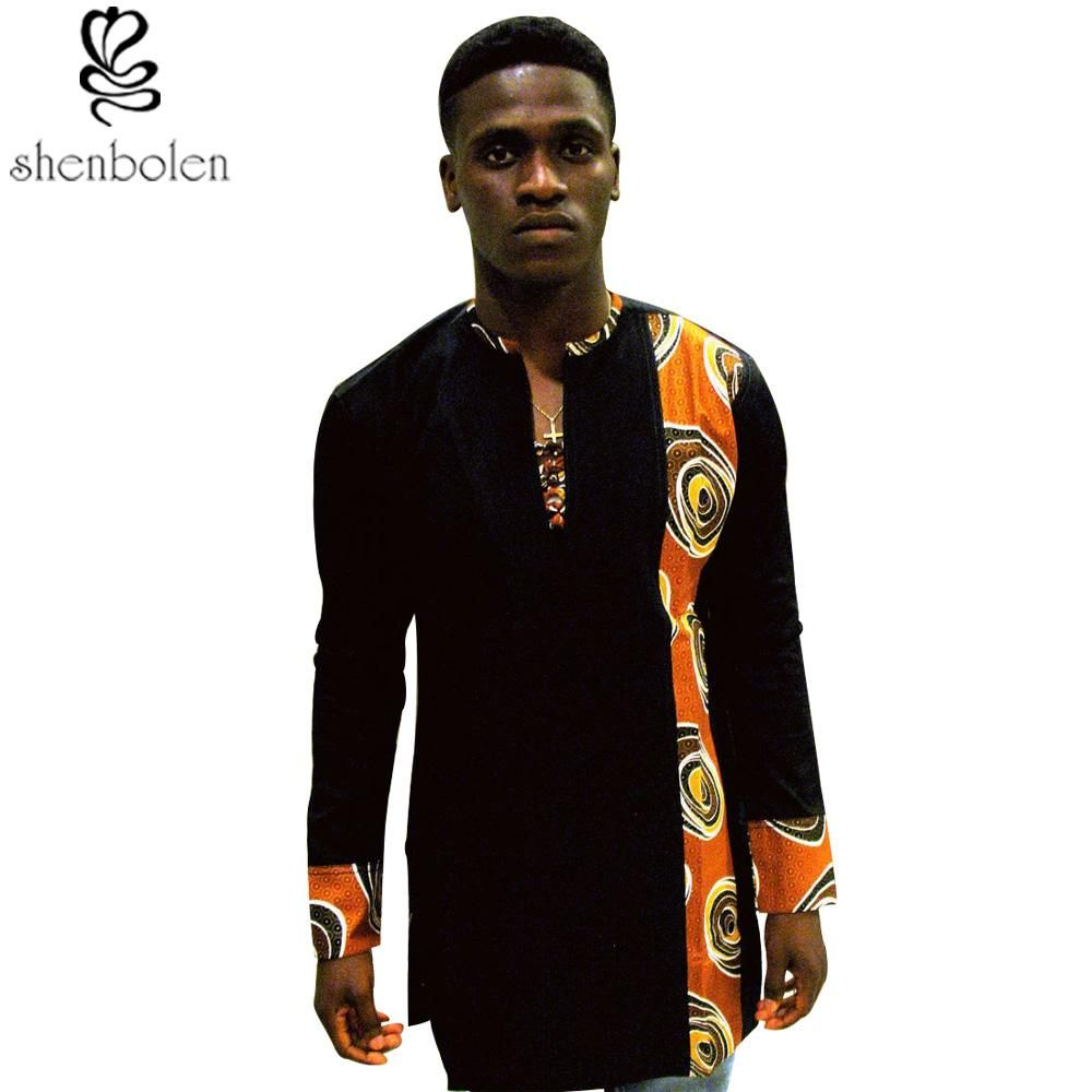 c5c8eb89cee6 Special Use: Traditional Clothing Item Type: Africa Clothing Brand Name:  Shenbolen Gender: Men Material: Cotton Model Number: YZ140 Type: shirt men  clothes: ...