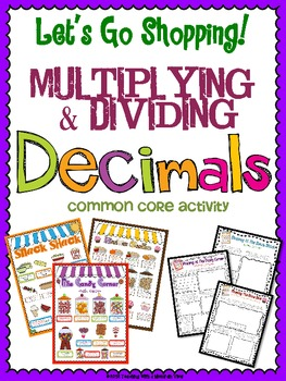 picture regarding Multiplying Decimals Games Printable known as Multiplying and Dividing Decimals Challenge FifthGradeFlock