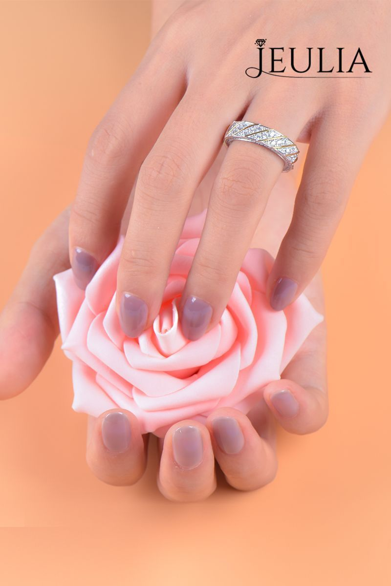 This stunning ring can create a really unique look on your left hand ...