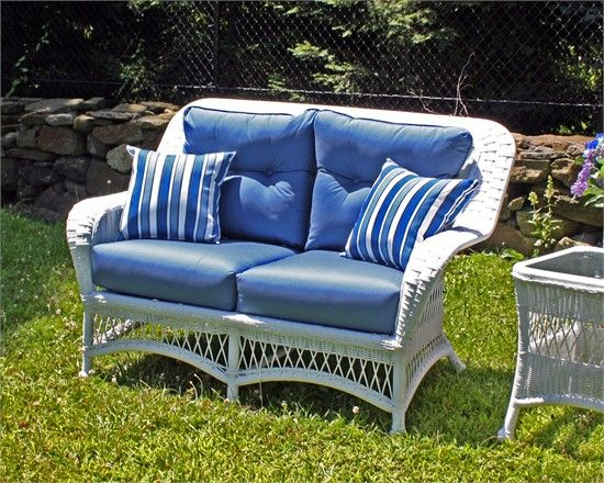 Peachy Outdoor Wicker Loveseat Princeton White Wicker Outdoor Ocoug Best Dining Table And Chair Ideas Images Ocougorg