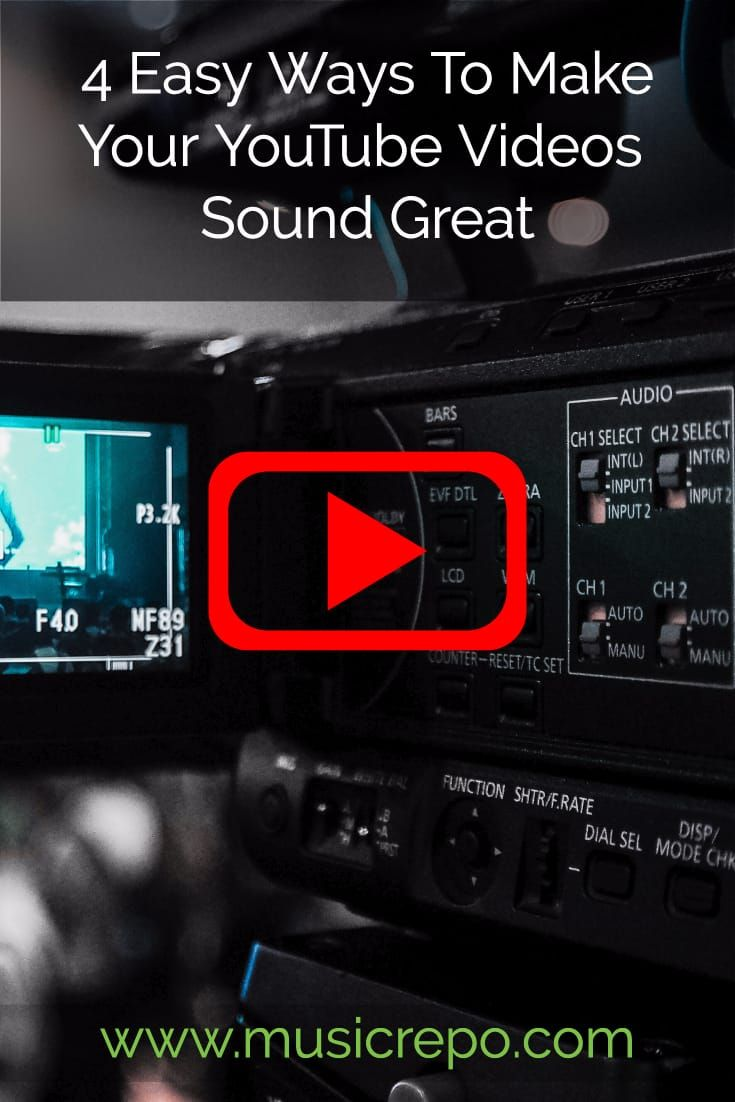 Easy ways to make your youtube videos sound great with