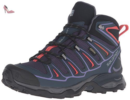Salomon Women's X Ultra Mid 2 GTX W hiking Boot, Nightshade Grey/Deep  Blue/Coral Punch, 10 D US * Be sure to check out this awesome product.