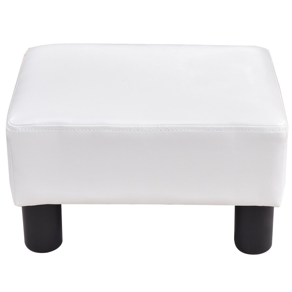Small Pu Leather Rectangular Seat Ottoman Footstool In 2020