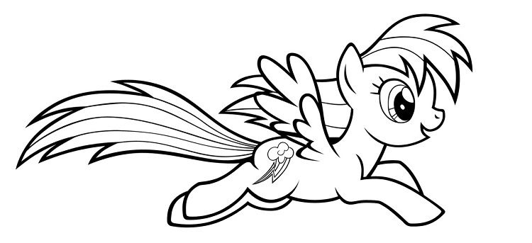 My Little Pony Coloring Pages Rainbow Dash Warna
