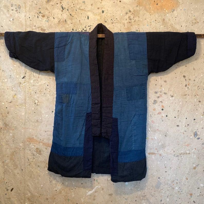 Vtg Japanese Indigo Noragi Jacket 584 Jackets Indigo Japanese