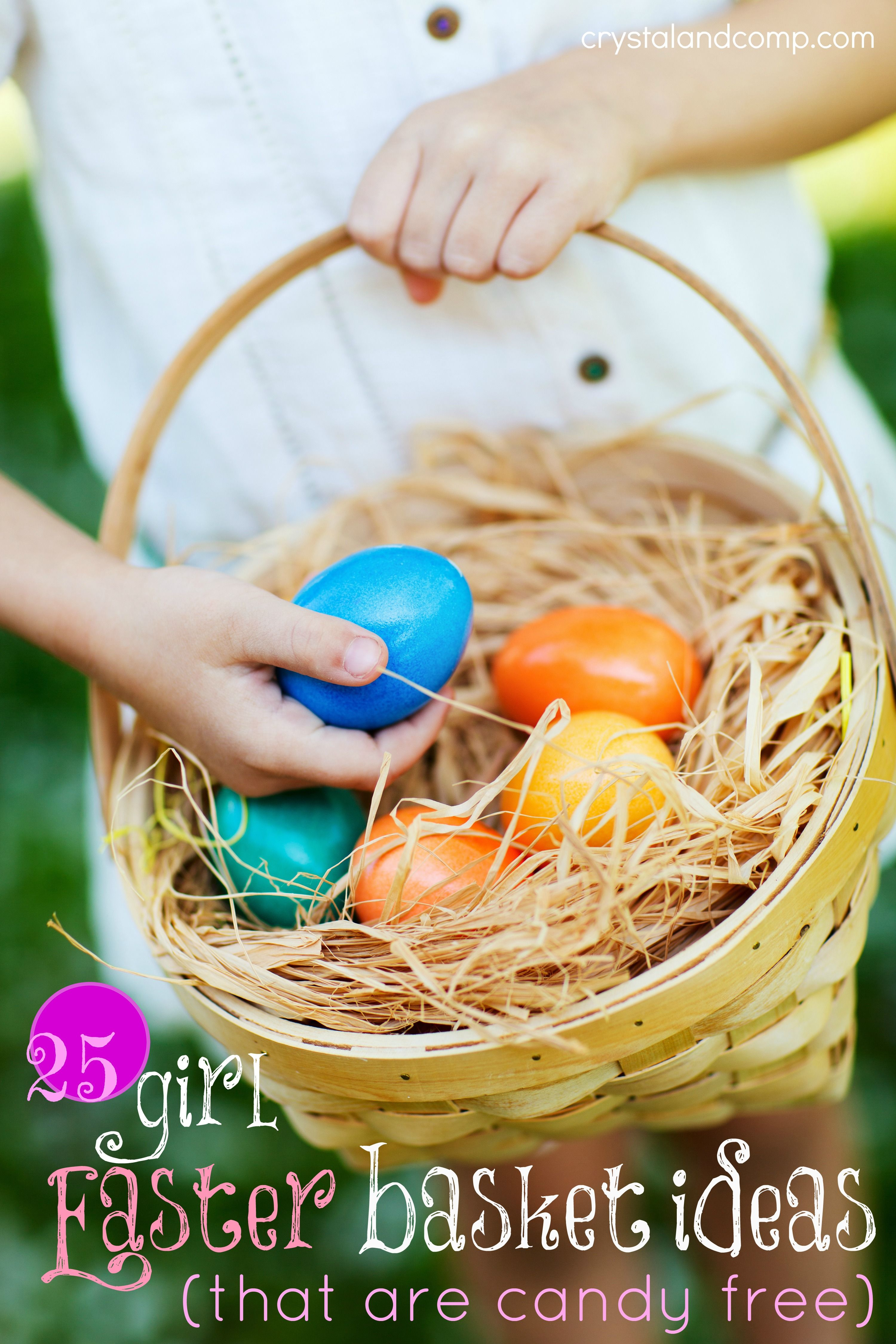 25 easter basket ideas for girls candy free easter baskets girl easter baskets that are candy free negle Images