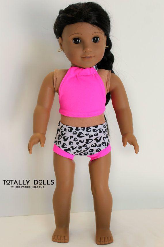 6e88219e8 Fits 18 Inch American Girl Dolls 18 Inch Doll Bathing Suit 4 Piece Set Dolls  ...