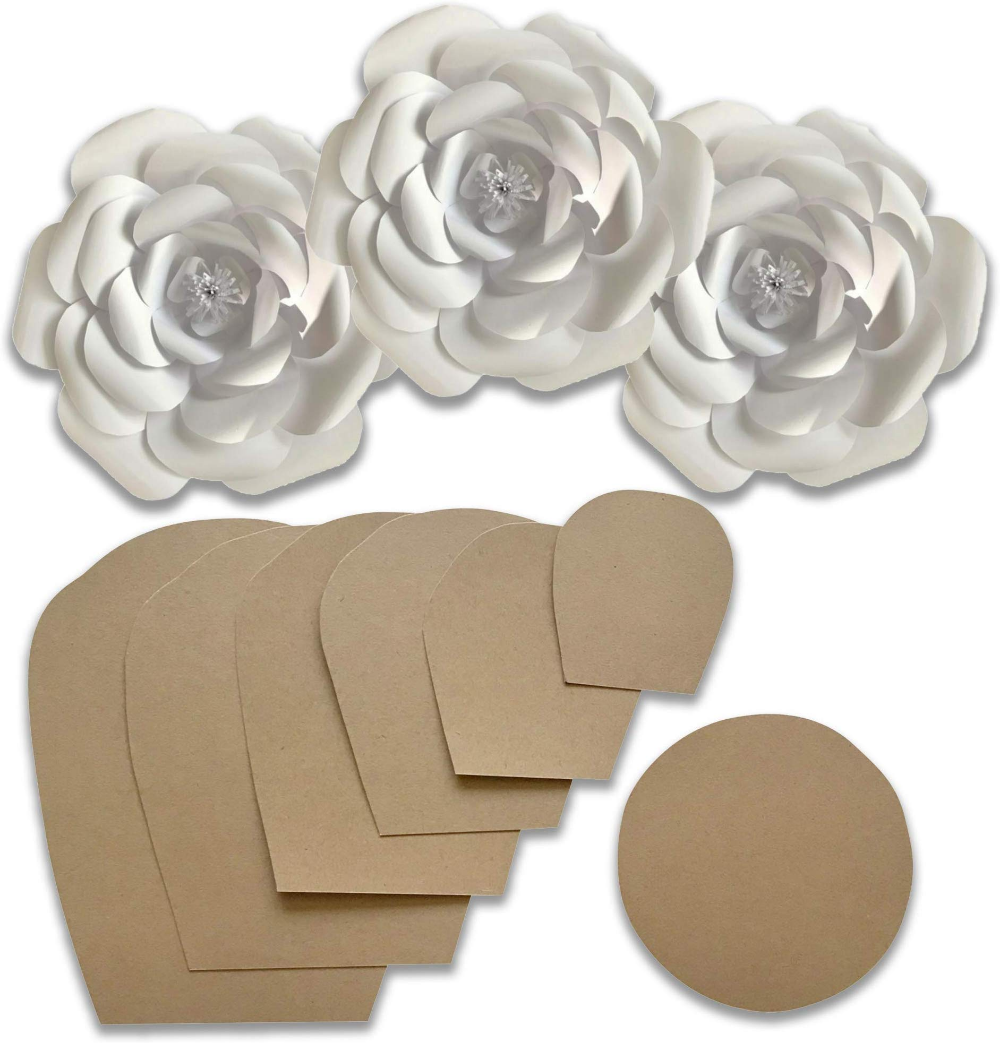 Amazon Com Online Shopping For Electronics Apparel Computers Books Dvds More Paper Flower Template Flower Template Paper Flower Printable Templates
