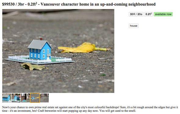 prankster is posting ads for mini houses on Craigslist ...