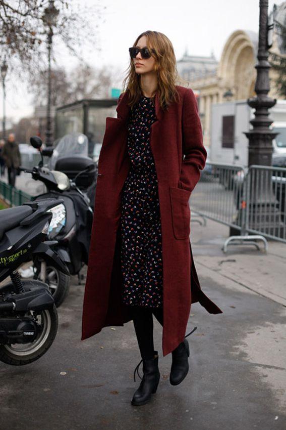 Midi dress and long coat