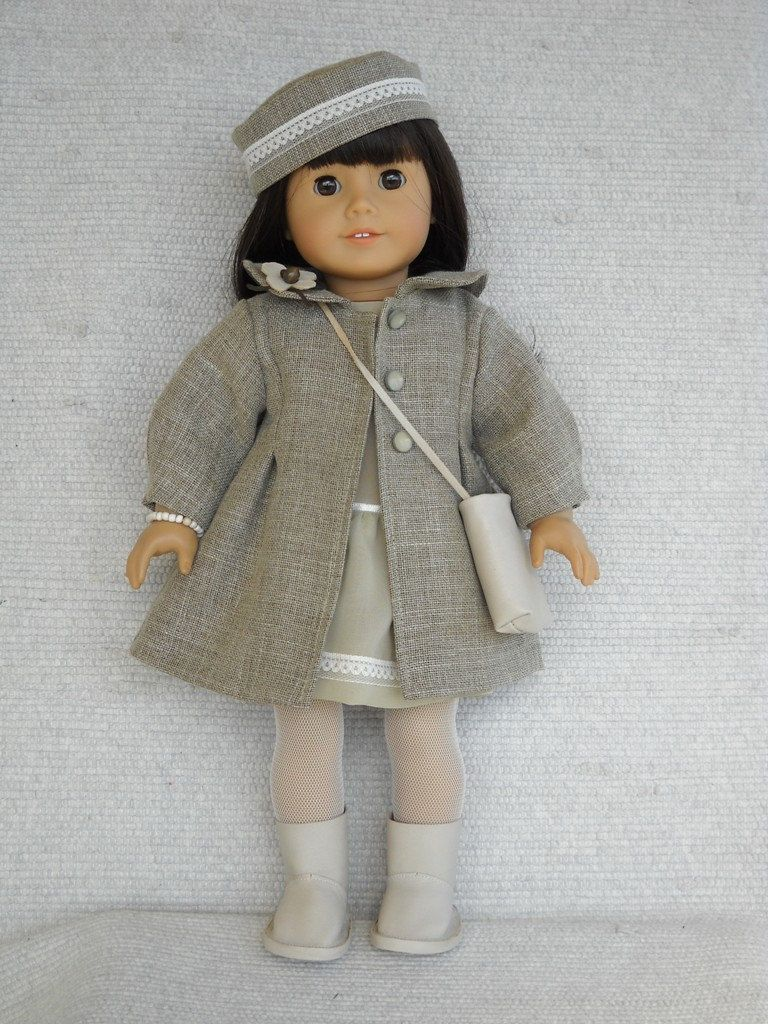 American Girl Doll Clothes - 7 piece Formal outfit with Coat and Hat...Beautiful!