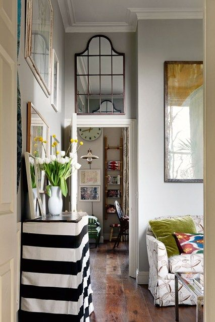 Mirror Above Door To Increase Ceiling Height  Small Space Design Mesmerizing Living Room Design Ideas For Small Spaces 2018