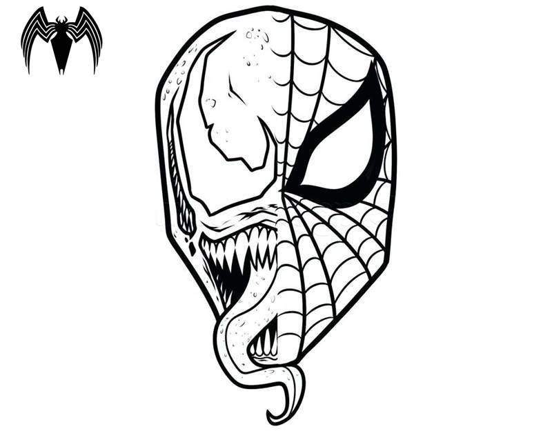 Free Printable Venom Coloring Pages For Kids Spiderman Coloring Coloring Pages Spiderman Stencil