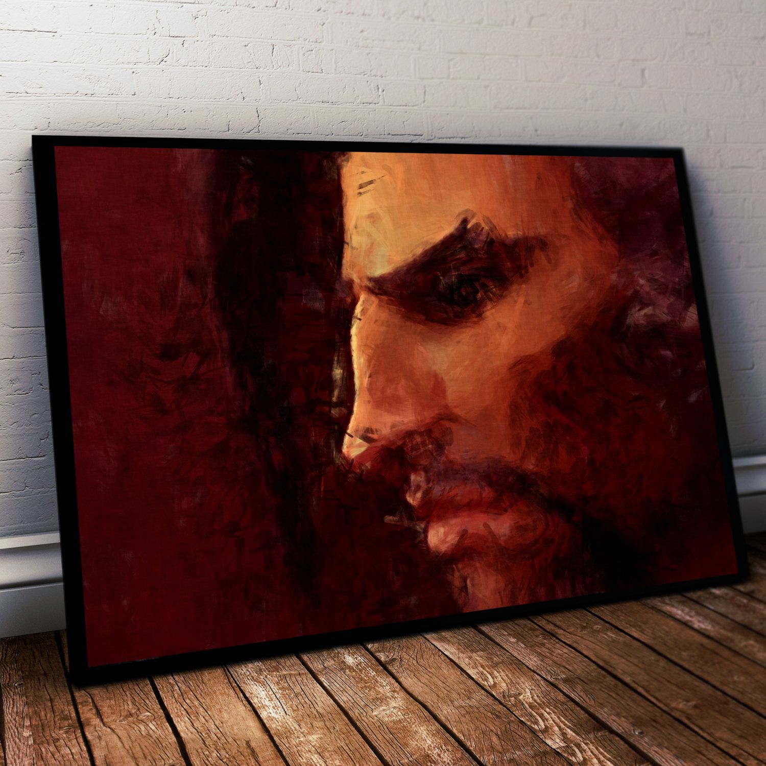 Overwatch Poster. Overwatch Hanzo Painting Print. Mounted Canvas available on request details in Listing by LilRedDotDesigns on Etsy