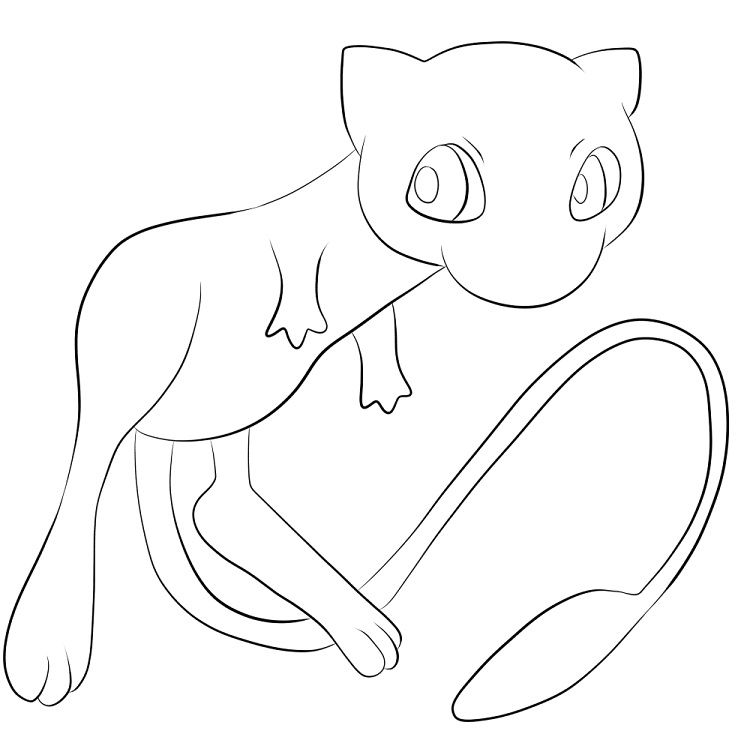 Pokemon Coloring Pages Mew Pokemon Coloring Pages Pokemon Coloring Pokemon Mew