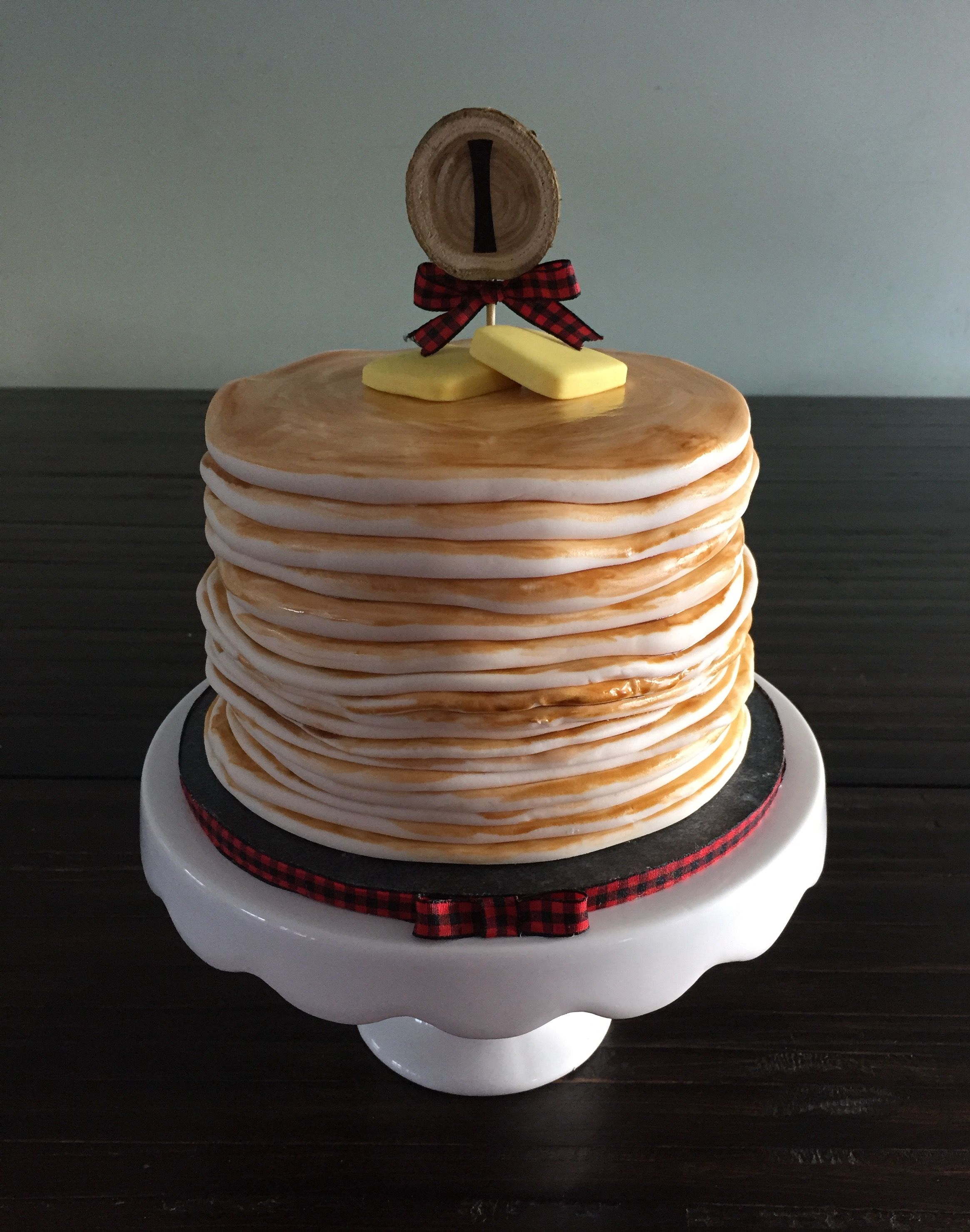 Brilliant Stack Of Pancakes Smash Cake Cake Smash Smash Cake Photoshoot Personalised Birthday Cards Veneteletsinfo
