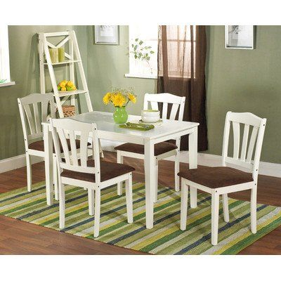 Target Marketing Systems Hamilton Collection Modern 5 Piece Sitting Chair Dining Set One Rectangle Table