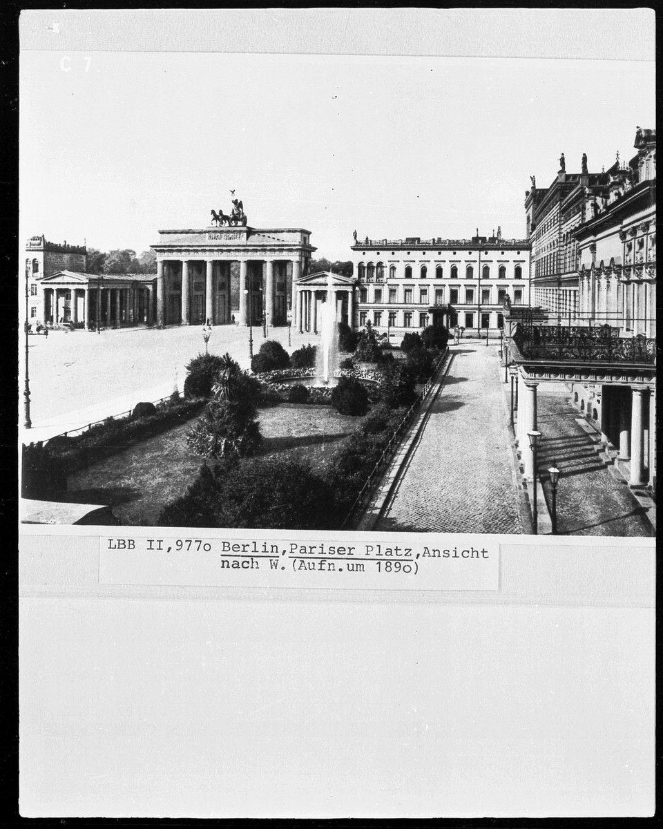 ca 1890 Pariser Platz