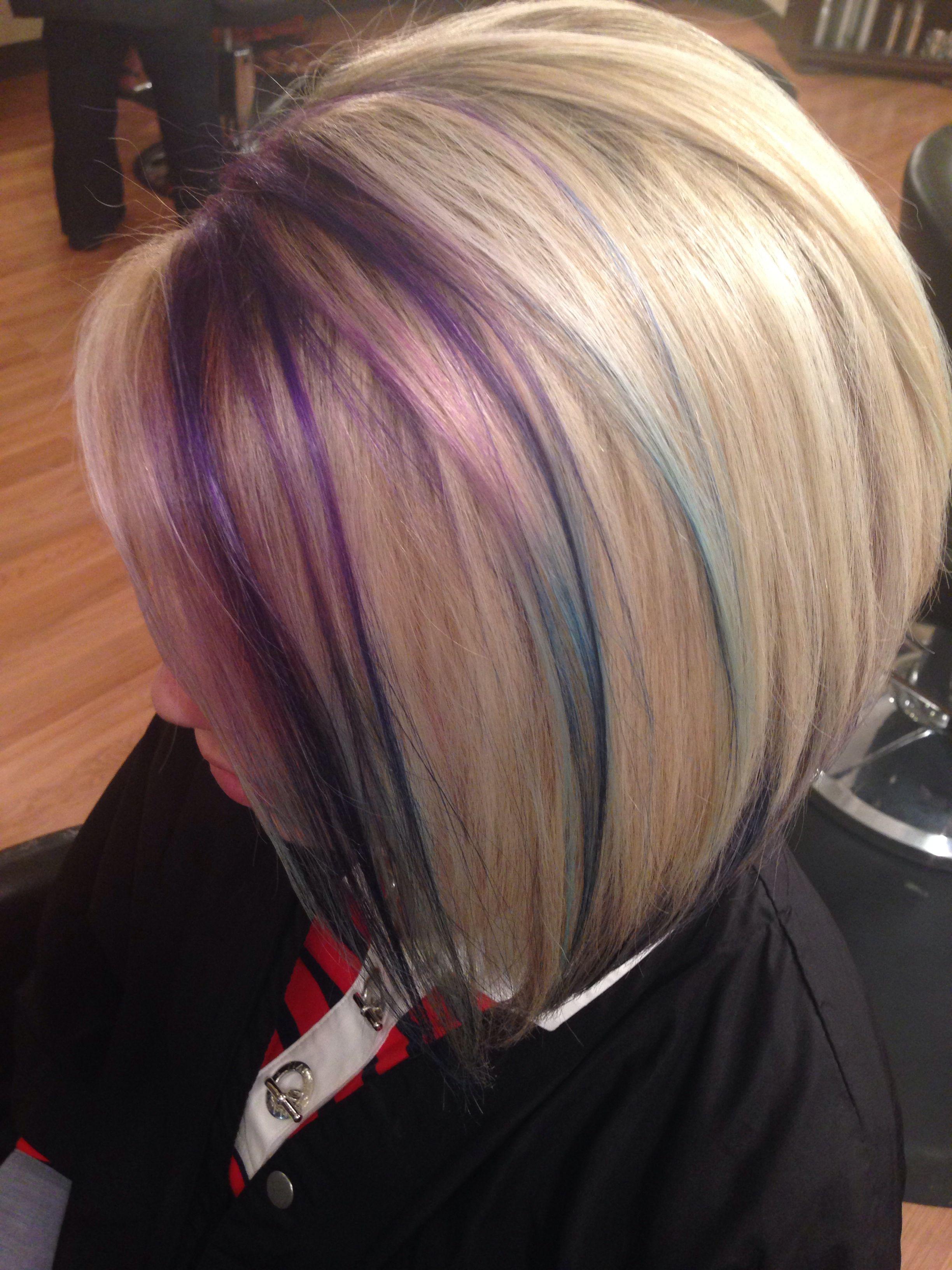 Purple Blue Hair Blonde Hair Purple Hair Hair Styles Hair Blonde Hair