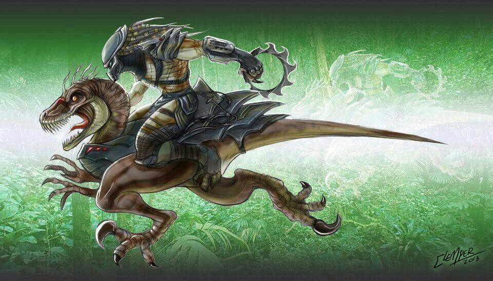 What if Predator riding a raptor | predators or yautjas ...