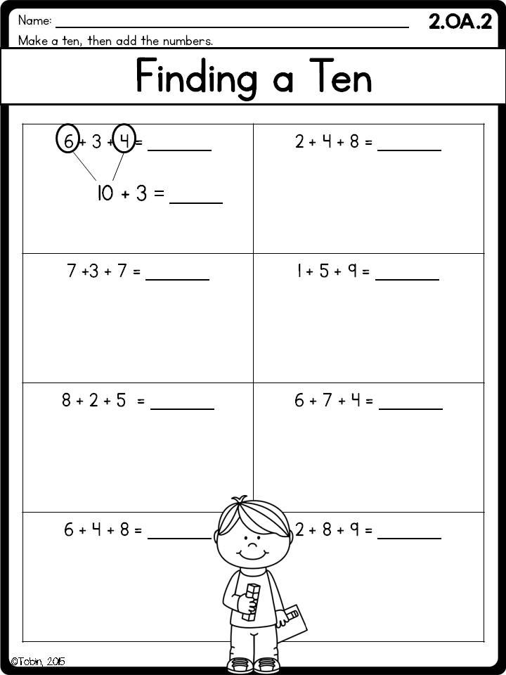 2nd Grade Math Printables Worksheets- Operations and Algebraic ...