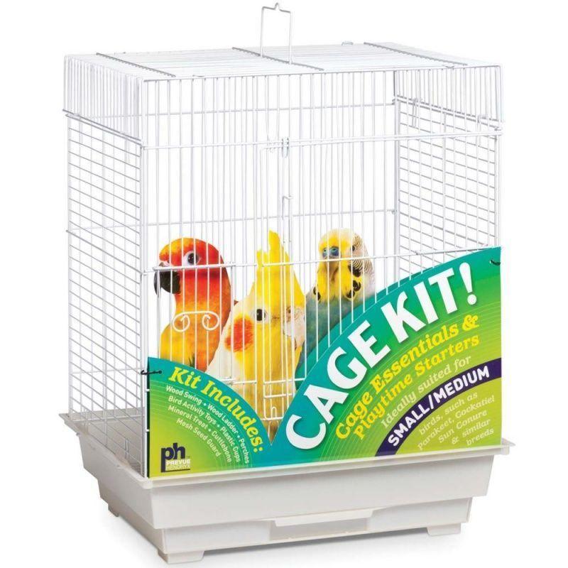 Prevue Square Top Bird Cage Kit White Tucker murphy